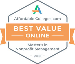 affordablecolleges.com Best Value Online Masters in Nonprofit management 2018
