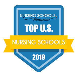 Nursing schools Amanac's top U.S nursing schools badge 2019