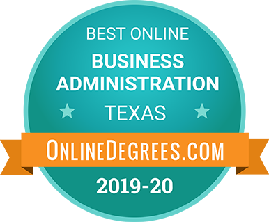 Badge for best online business administration by online degrees dot com