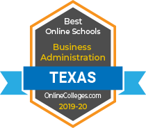 badge for Best Online schools for business administration by online colleges dot com