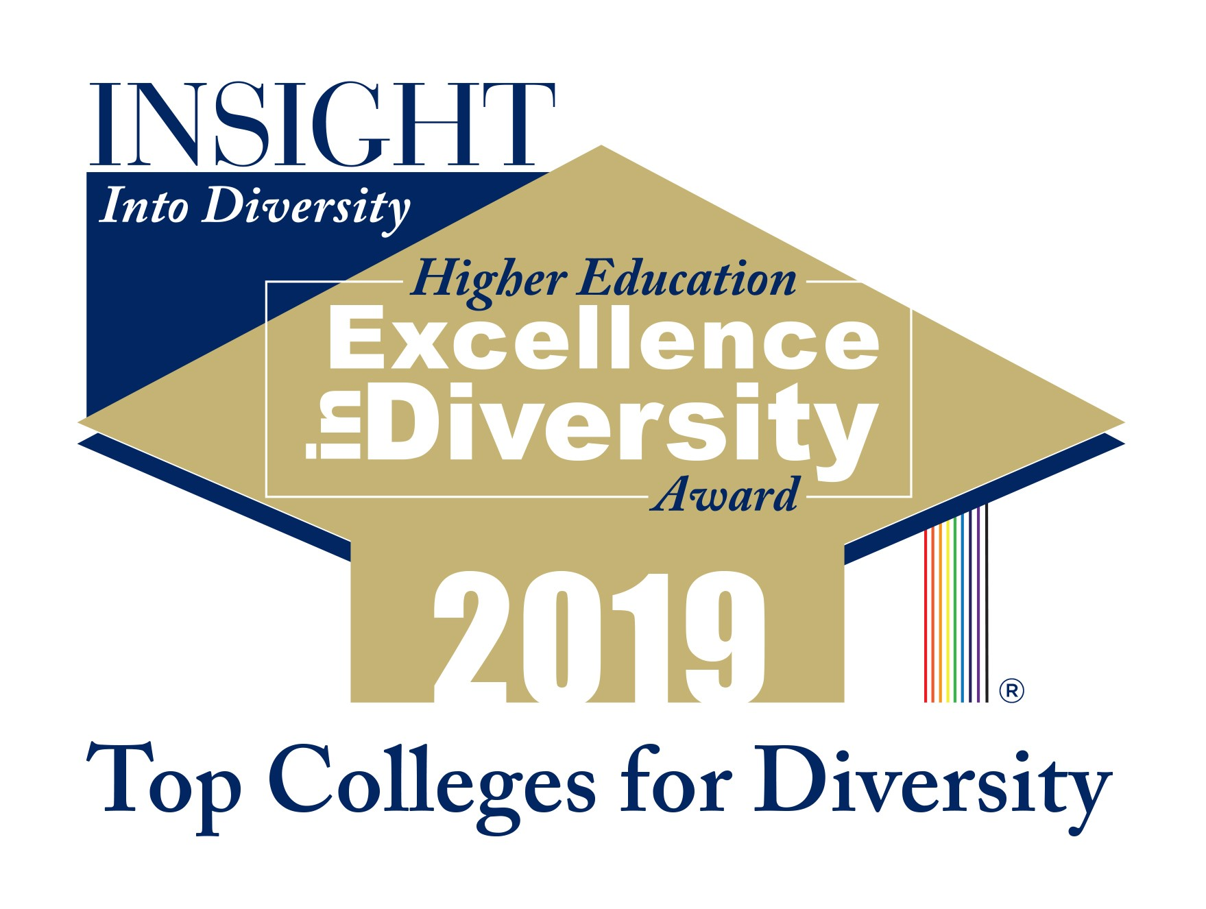 Top colleges for diversity badge 2019