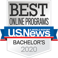 Best onine programs badge for bachelor's 2020