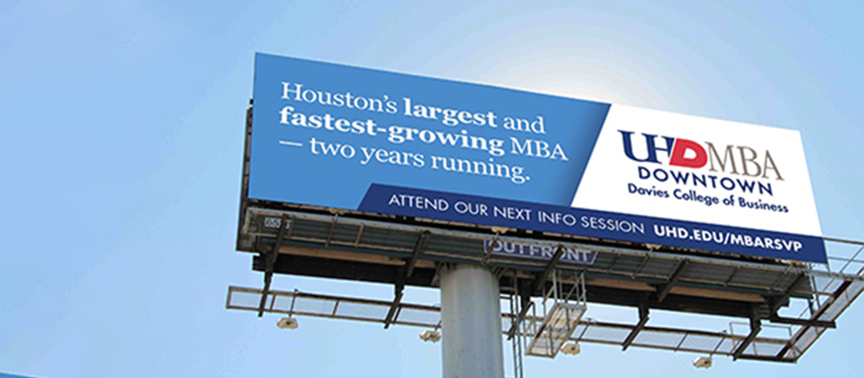 UHD MBA billboard