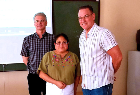 Photo of Dr. Nowak, Dr. Chiquillo and Dr. Mandell