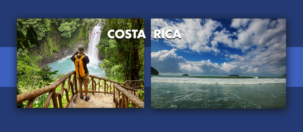 two photos of costa rica