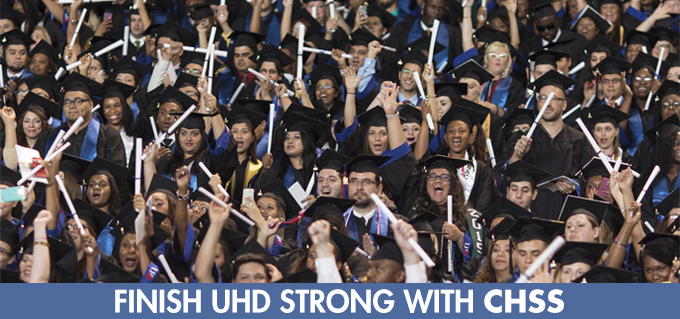 UHD graduates at ceremony celebrating