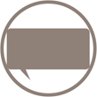 icon of a rectangular speech bubble