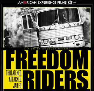 Freedom Riders film poster black white photo of bus