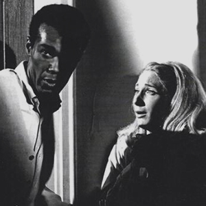 Still of the two lead characters from Night of the Living Dead