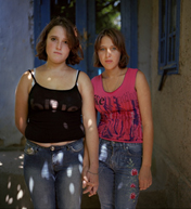 Photograph of two young girls by Dana Popa