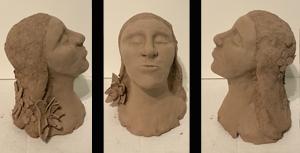 Woman-Three views, sculptures