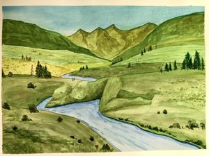 Javier Rivera, Pachamama, Watercolor 1
