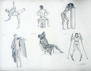 hand drawn figure models