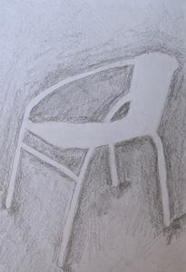hand drawn chair