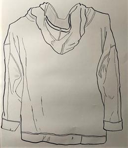 hand drawn sweat shirt with hood