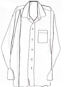 hand drawn long sleeve button down shirt