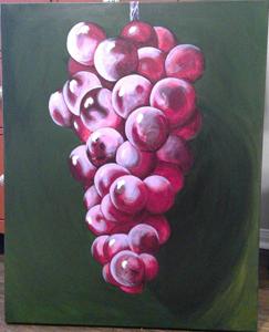 Chloe Streeter, (Grapes), Painting II