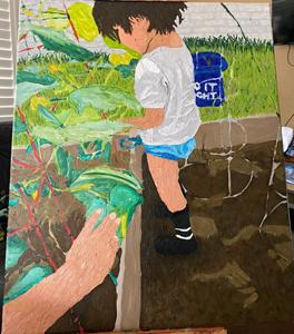 Arianna Ramirez, (Child) Painting I