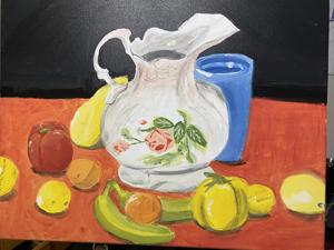 Nahum Parada, (Still Life, Color), Painting 1