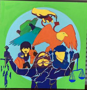 Sarah Oliva, Broken Justice, Special Topics in Art: Murals Class