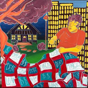 Susanna Miranda DeLeon, The Dream vs. The Reality of Home Ownership, Special Topics in Art: Murals Class