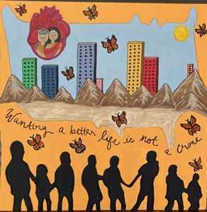 Yessenia Rincon, Wanting a Better Life is Not a Crime, Special Topics in Art: Murals Class