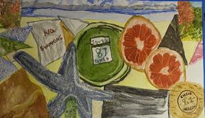 Evelyn Cruz, Watercolor I