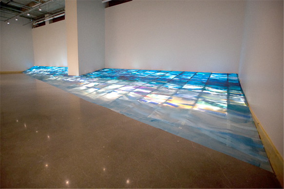 "Photo of ""matrix' installation by Linda Cobley"