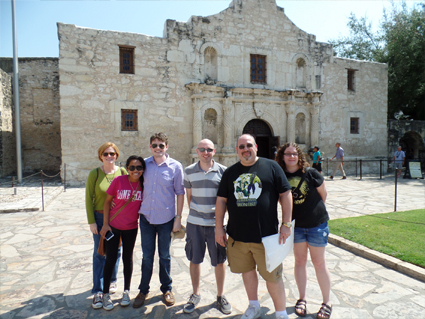 Alpha Theta (PAT) into San Antonio in front of the Alamo