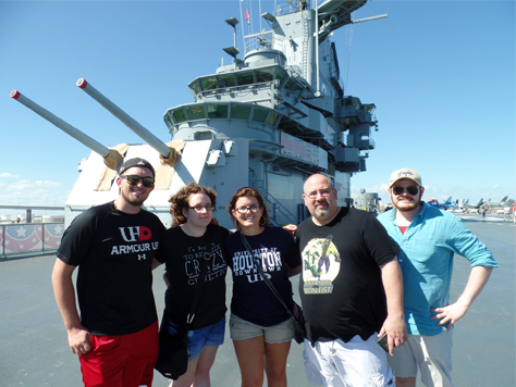 Phi Alpha Theta society visits USS Lexington