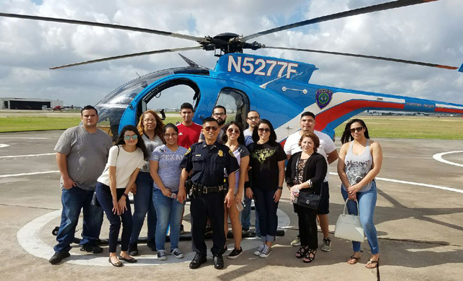 cj students tour air support division
