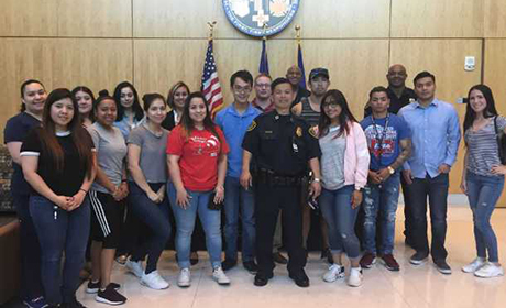 Criminal Justice students tour Houston Emergency Center