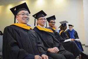 Graduates waiting for their diplomas