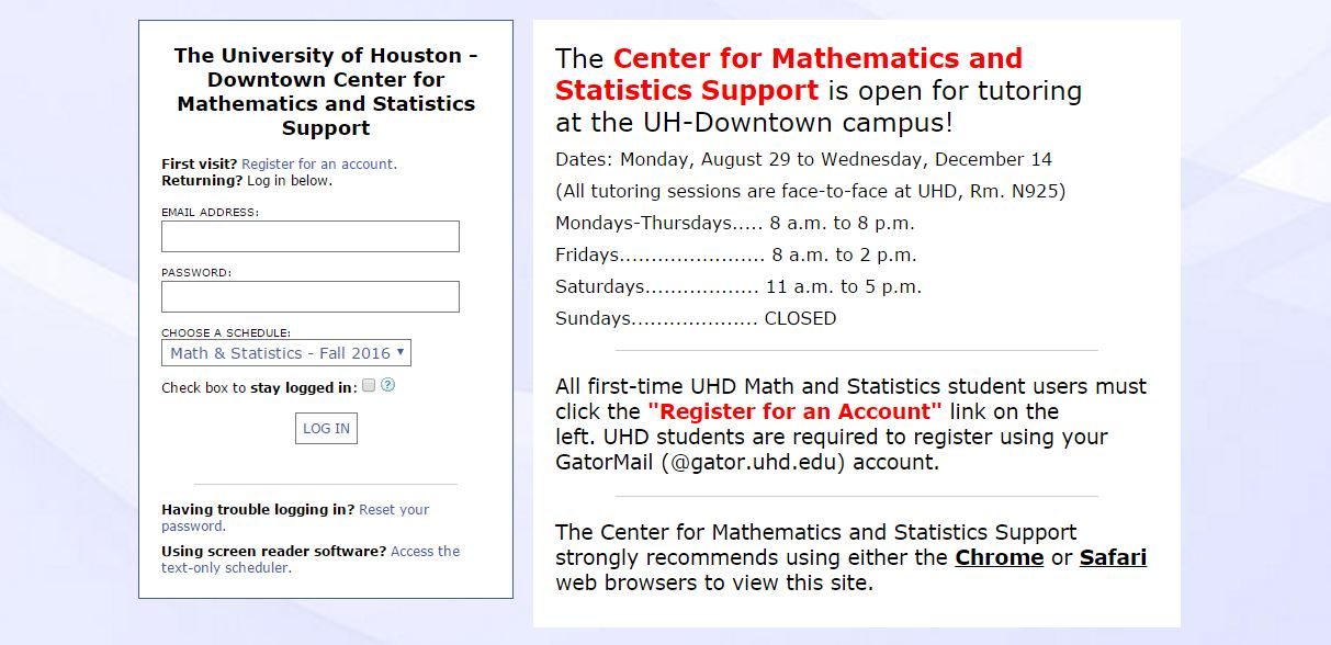 How to make an Appointment with WCONLINE | University of Houston