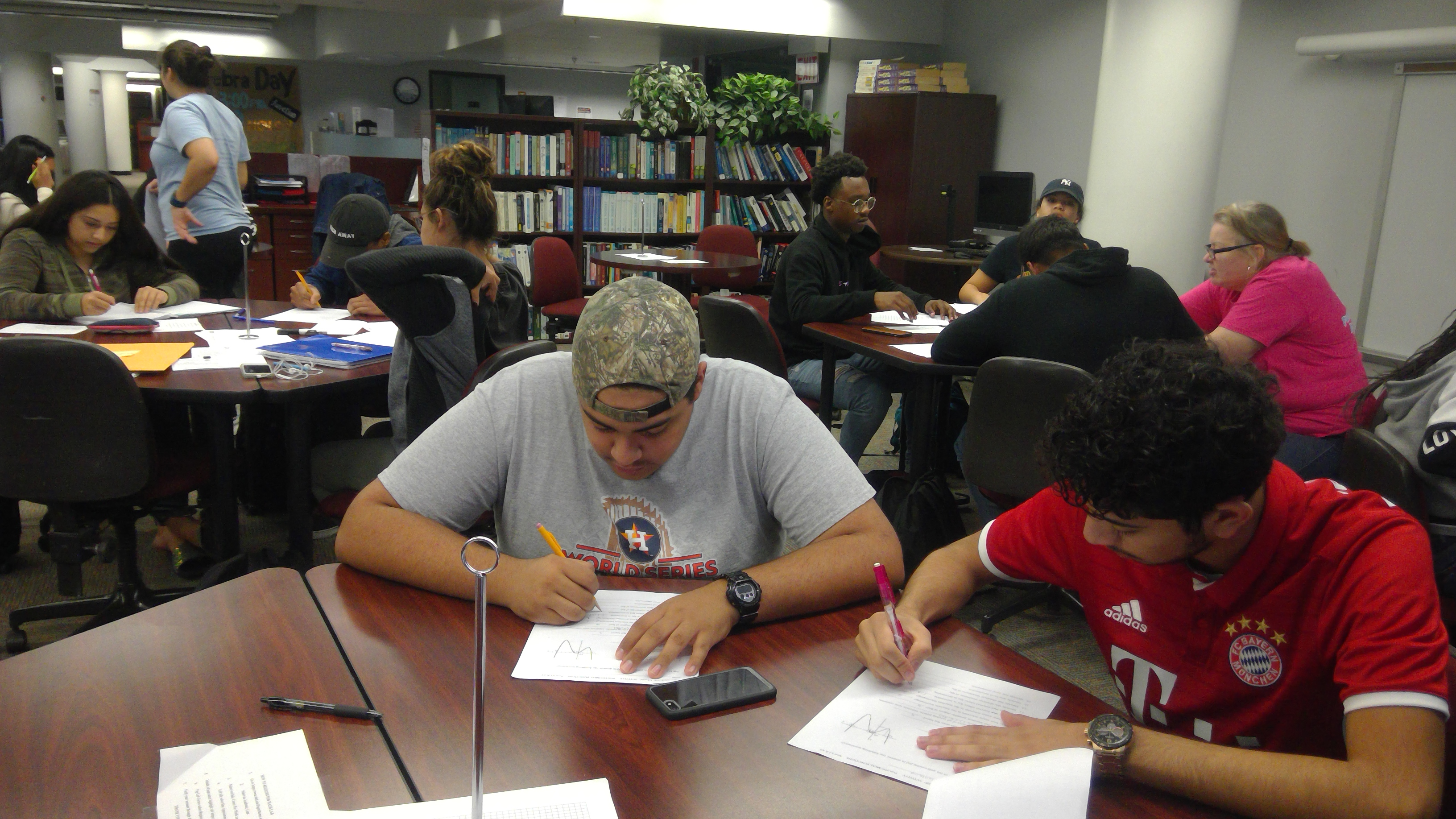 Tutoring Session in Academic Support Center