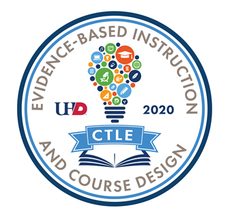 Main Badge for the Certificate in Evidence-Based Instruction & Course Development