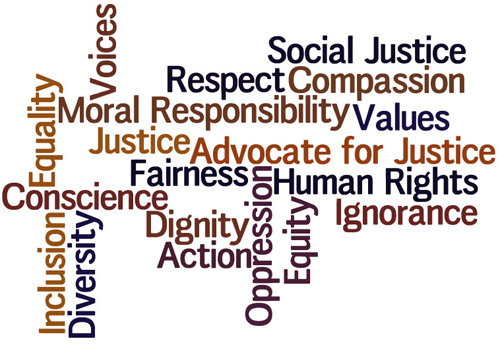 What are some examples of justice and human rights in