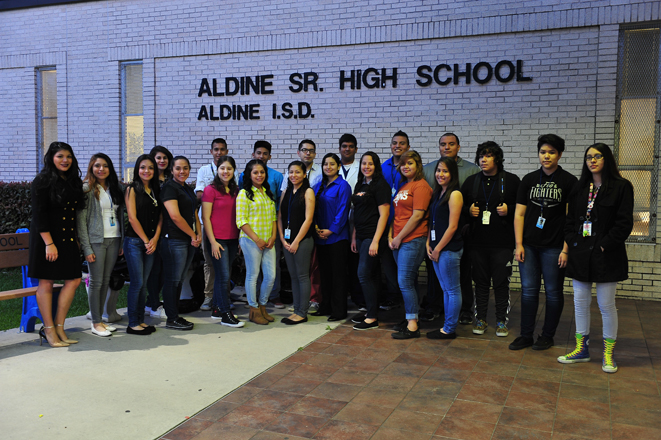 2014-15 Aldine Sr. High Talent Search Students group photo