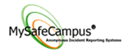 MySafeCampus logo, it is a link to the MySafeCampus website