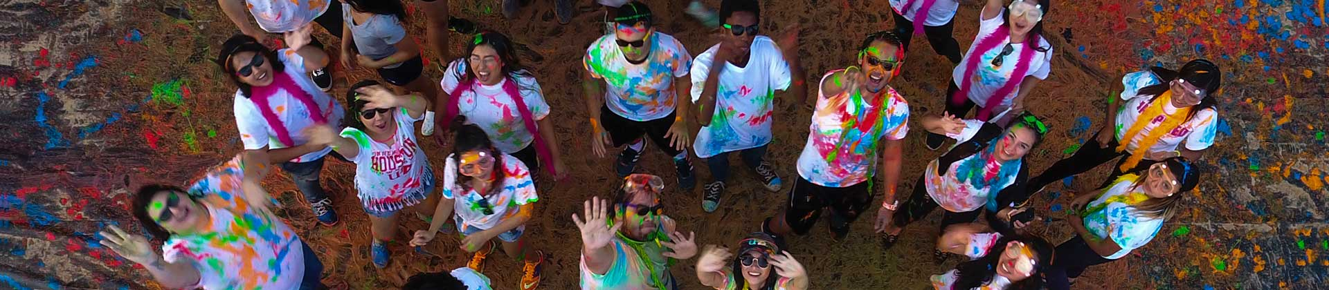 International students during color festival