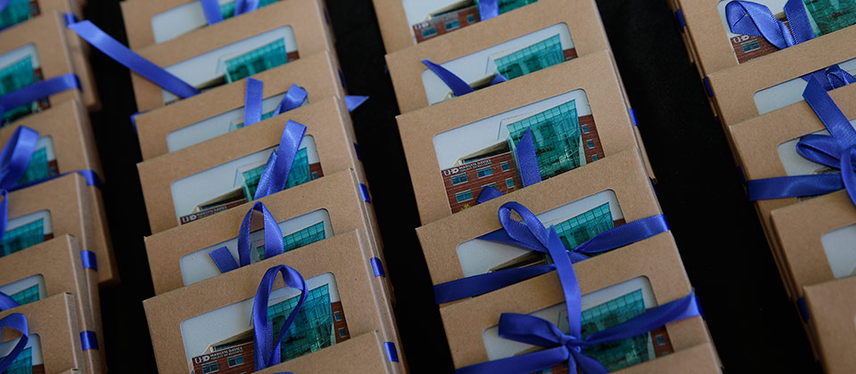 Thoughtful gifts for attendees at a UHD event