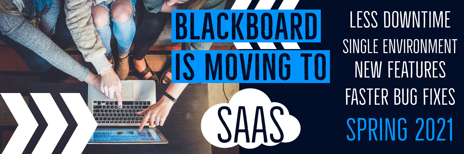Blackboard Moving to Saas Decorative Banner