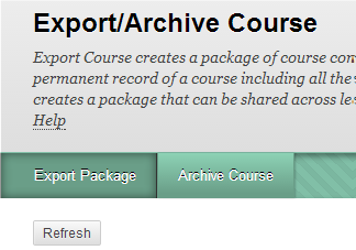 a screenshot of the Export Package button