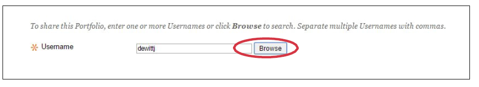 a screenshot of the Browse button circled in red