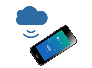 a screenshot of the iClicker app on a phone talking to the cloud