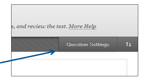 a screenshot of the Question Settings option
