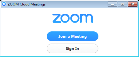 a screenshot of the Zoom main screen