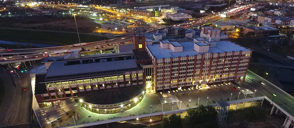 Aerial view of UHD Main building