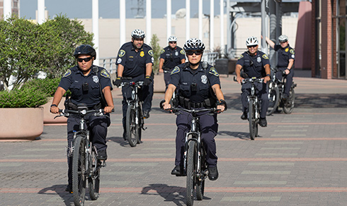 UHD Police patrolling on bikes