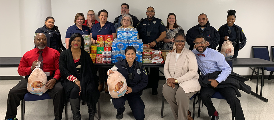 UHD police dept. Thanksgiving